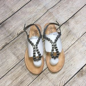 Unlisted   Pewter/Jeweled Gladiator Sandals   9